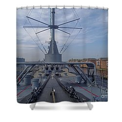 Uss Wisconsin  Shower Curtain by Melissa Messick