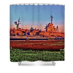 Uss York Town Shower Curtain
