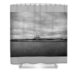 Shower Curtain featuring the photograph Uss Yorktown by Sandy Keeton