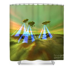 Usurpers Shower Curtain by Corey Ford
