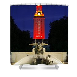 Ut Austin Tower Orange Shower Curtain