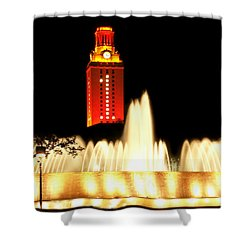 Ut Tower Championship Win Shower Curtain by Marilyn Hunt