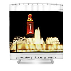 Ut Tower Poster Shower Curtain by Marilyn Hunt