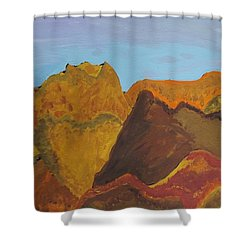 Utah Mountains Shower Curtain by Don Koester