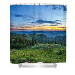 Utah Sunrise Above Park City Shower Curtain