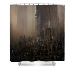 Utherworlds Cohabitations Shower Curtain