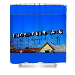 Utica Club Ale West End Brewery Shower Curtain by Peter Gumaer Ogden
