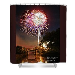 Utica Fireworks Shower Curtain
