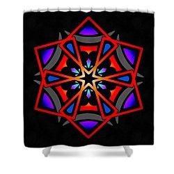 Shower Curtain featuring the digital art Utron Star by Derek Gedney