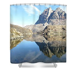Uumm Lake Shower Curtain