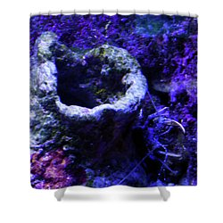 Shower Curtain featuring the digital art Uw Coral Stone by Francesca Mackenney