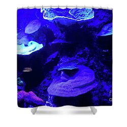 Shower Curtain featuring the photograph Uw Neon Coral by Francesca Mackenney