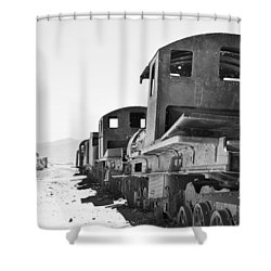 Uyuni Train Cemetery  Shower Curtain
