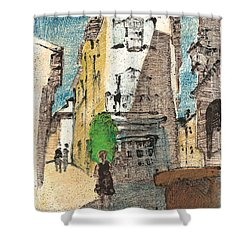 Uzes Provence Shower Curtain