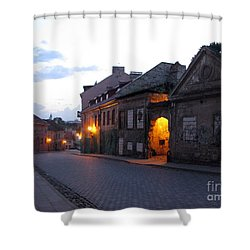 Uzupis Street. Old Vilnius. Lithuania. Shower Curtain