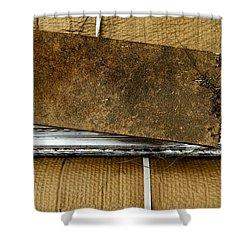 V Back 1 Shower Curtain