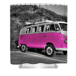 V-dub In Pink  Shower Curtain by Rob Hawkins