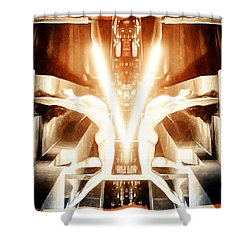 V For Victory Shower Curtain by Andrea Barbieri