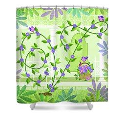 V Is For Vine And Veranda Shower Curtain