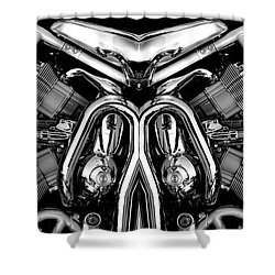 V-rod Shower Curtain