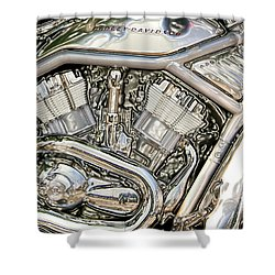 V-rod Titanium Shower Curtain