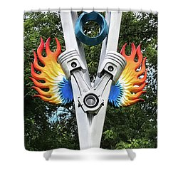 V8 Tree Carving  Shower Curtain
