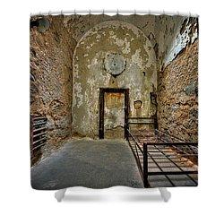 Vacancy Shower Curtain by Evelina Kremsdorf