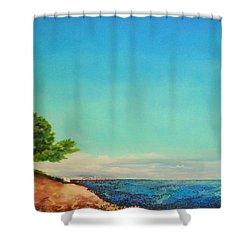 Vacanza Permanente Shower Curtain by Maja Sokolowska