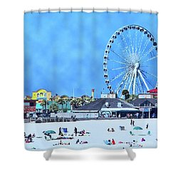 Shower Curtain featuring the photograph Vacation by Kathy Bassett