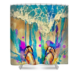 Vacation Time Shower Curtain