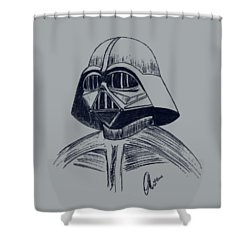Vader Sketch Shower Curtain