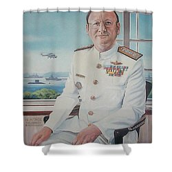 Vadm Robert Claude Simpson-anderson Shower Curtain