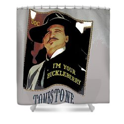 Val Kilmer As Doc Holliday  Tombstone T Shirts Window Display Tombstone Arizona 2004-2015 Shower Curtain