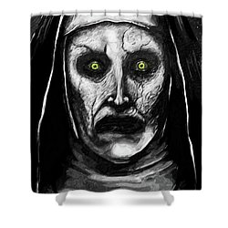Valak The Demon Nun Shower Curtain by Taylan Apukovska