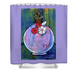 Shower Curtain featuring the painting Valentina by P J Lewis
