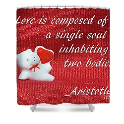 Shower Curtain featuring the photograph Valentine By Aristotle by Linda Phelps