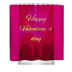 Shower Curtain featuring the digital art Valentine by Digital Feng Shui