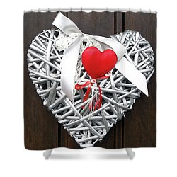 Shower Curtain featuring the photograph Valentine Heart by Juergen Weiss