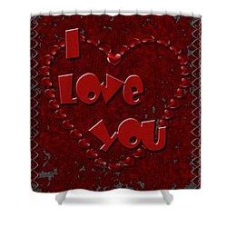 Shower Curtain featuring the digital art Valentine Love by Michelle Audas