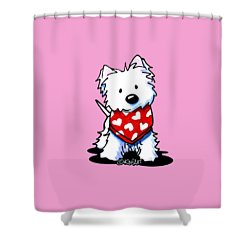 Valentine Westie Shower Curtain