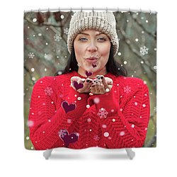 Shower Curtain featuring the photograph Valentines Kisses... by Nina Stavlund