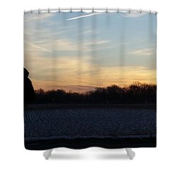 Valentines Sunrise Shower Curtain