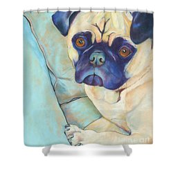 Valentino Shower Curtain by Pat Saunders-White
