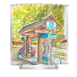 Valero Gas Station In Big Sur, California Shower Curtain