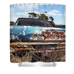 Shower Curtain featuring the photograph Valiant View by Stephen Mitchell