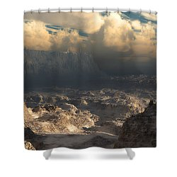 Valley At Dusk Shower Curtain