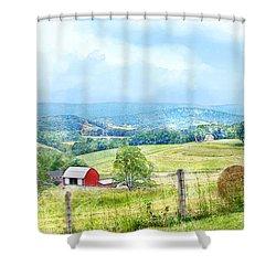 Valley Farm Shower Curtain