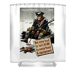 Valley Forge Soldier - Conservation Propaganda Shower Curtain by War Is Hell Store