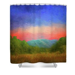 Valley In The Cove Shower Curtain