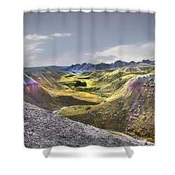 Valley Of Beauty,badlands South Dakota Shower Curtain